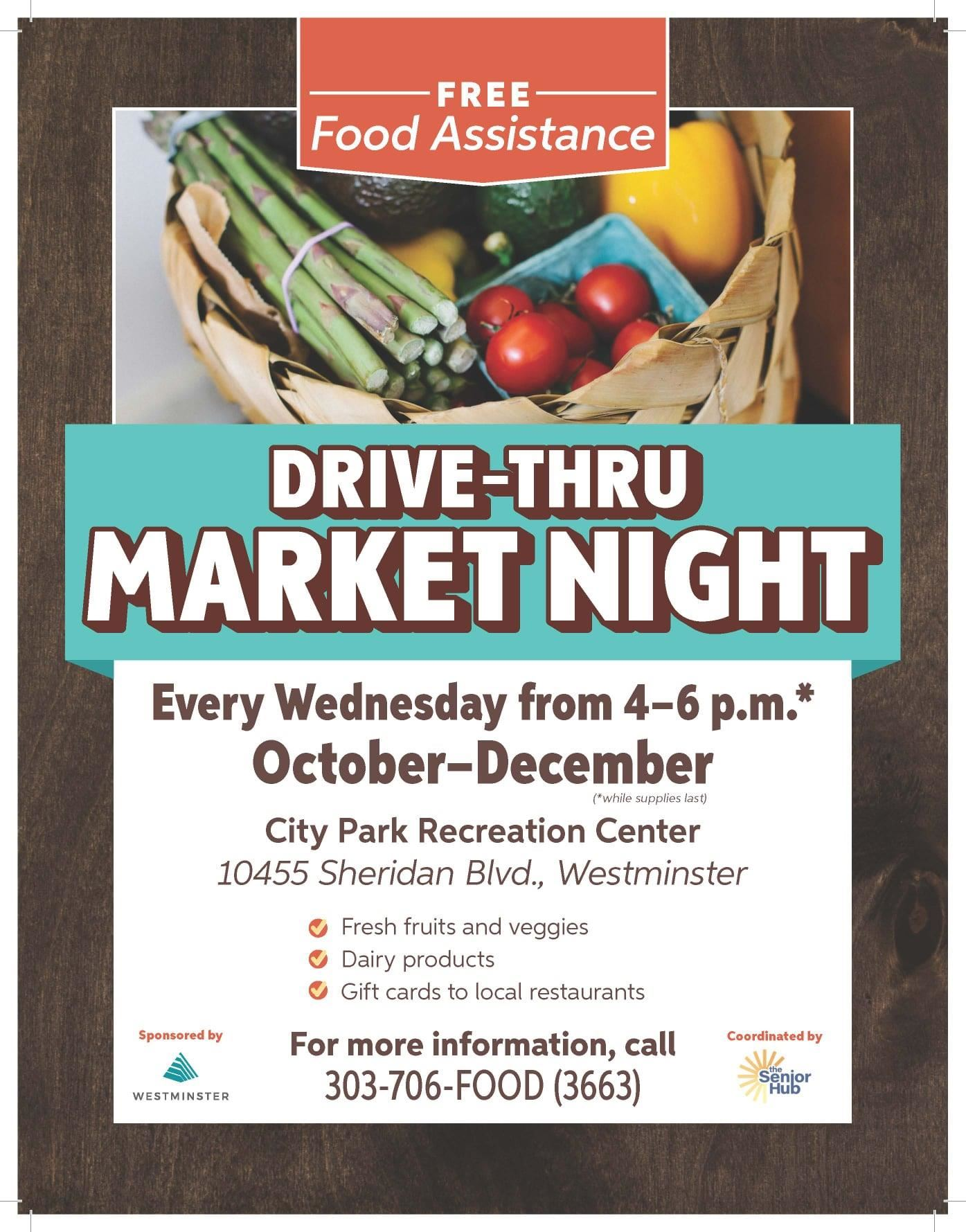 Drive-Thru Market Night poster