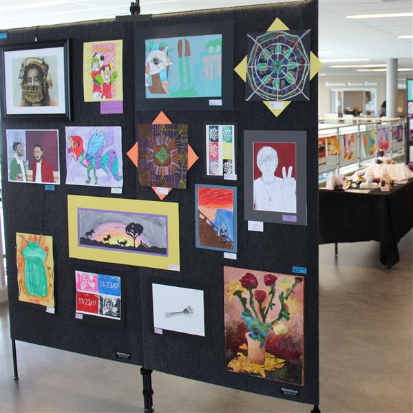 display of artwork at westminster high school