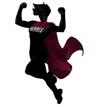 new hidden lake high school hero logo