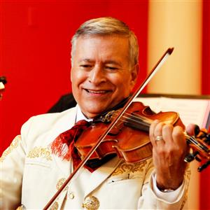 Dr. Lorenzo a. Trujillo playing the violin