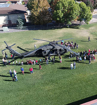 Helicopter visits Mesa Elementary