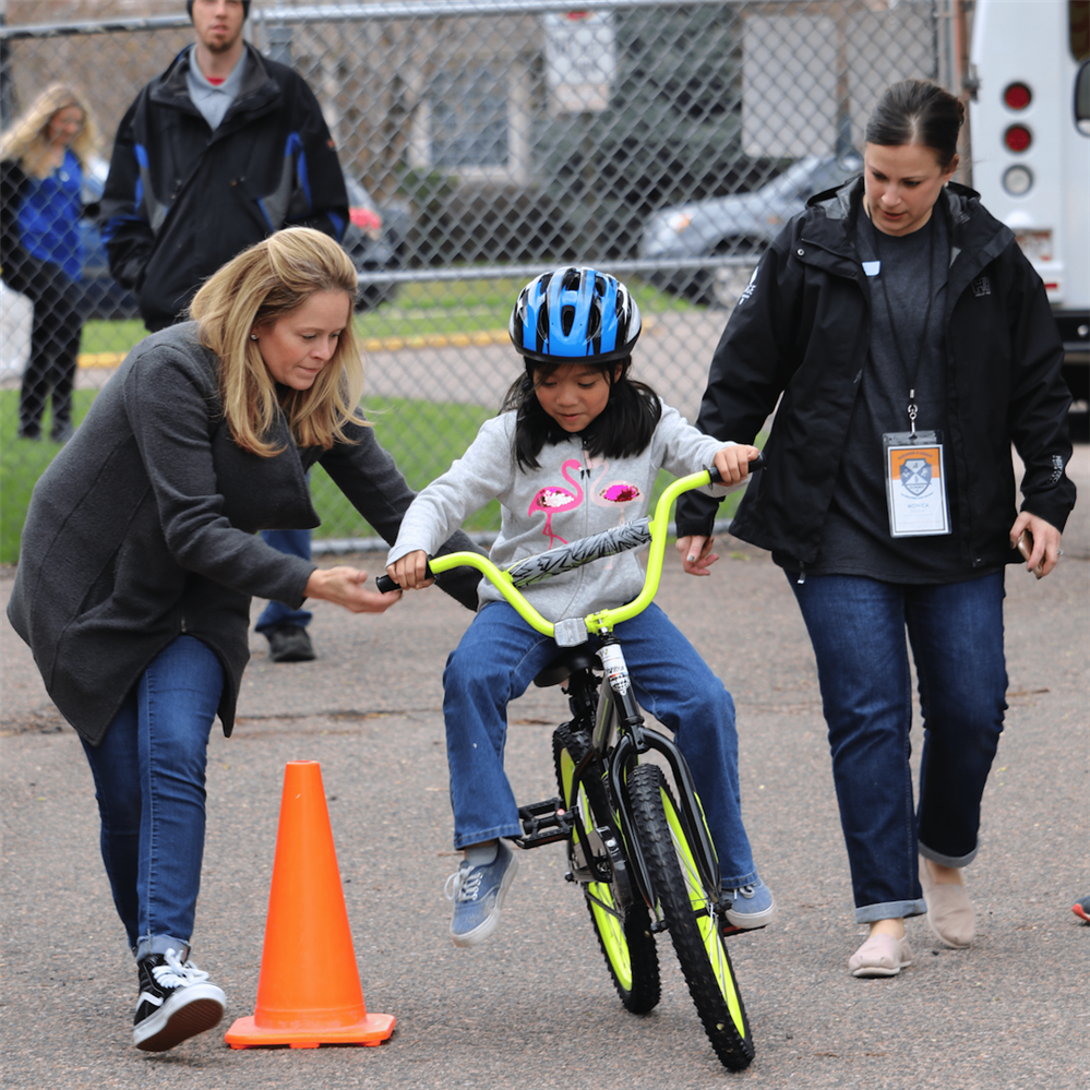 Tennyson Knolls Level Two Students Receive a Free Bicycle & Helmet