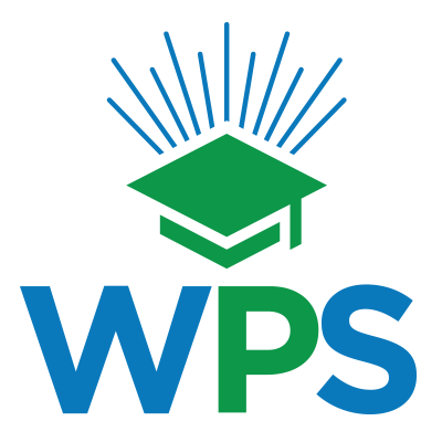 wps icon logo with graduation cap