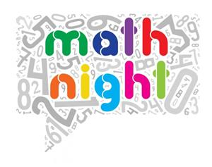 Picture of numbers mixed up with Math Night written in the middle