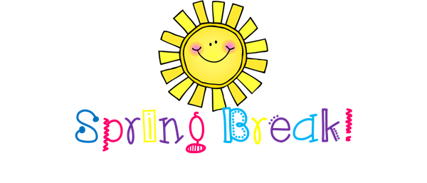 Cartoon sun and the words Spring Break