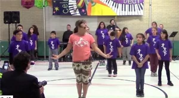 Celebrate the Beat instructor teaches students the dance moves