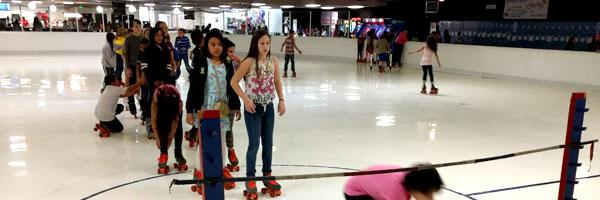 students at Sherrelwood roller skating