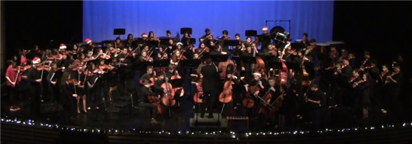 Westminster High School Orchestras performing at the Winter Spectacular Concert 2016