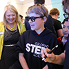 Superintendent Pam Swanson joins students at Colorado STEM Academy to learn about Zspace.