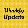 "Yellow background with the words ""Weekly Update"" written in black"