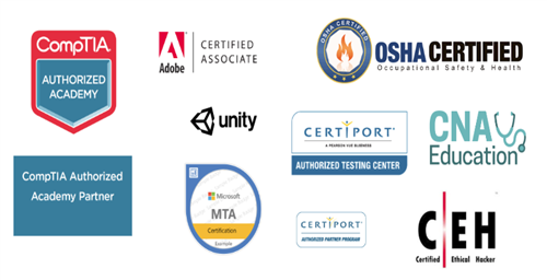 Pictures of industry credential logos