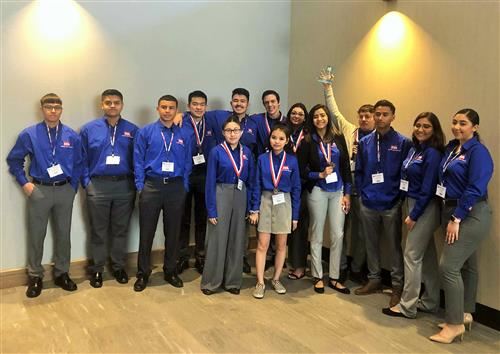 WHS students at Technology Student Association competition