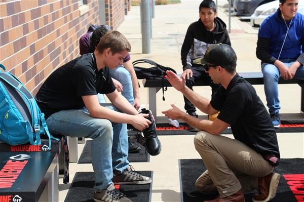 CTE Construction Students Receive Free Boots