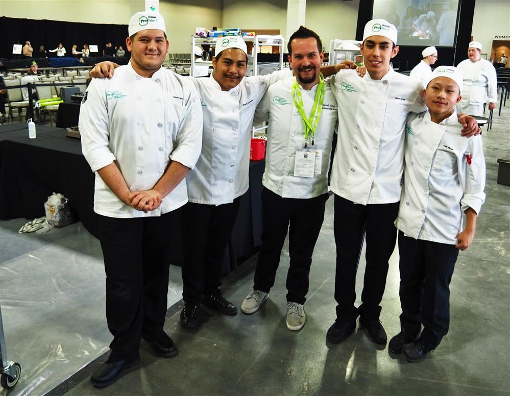 ProStart students and teacher at competition