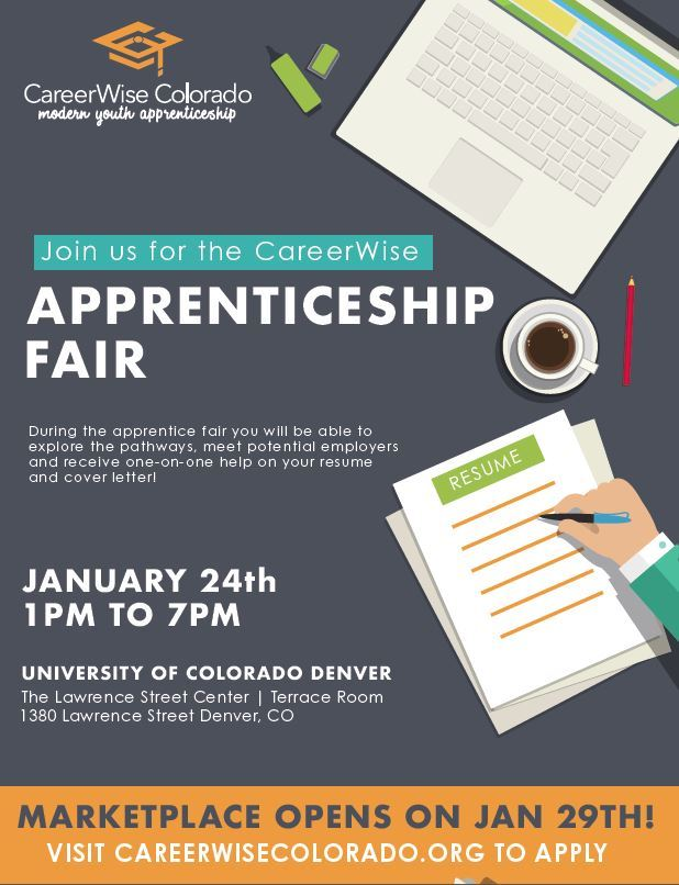 January 24 | CareerWise Colorado Apprenticeship Fair