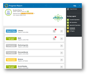 an example of the Empower Parent Portal homepage