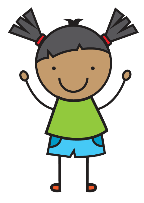 cartoon graphic of a girl