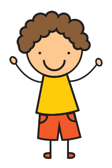 cartoon graphic of young boy