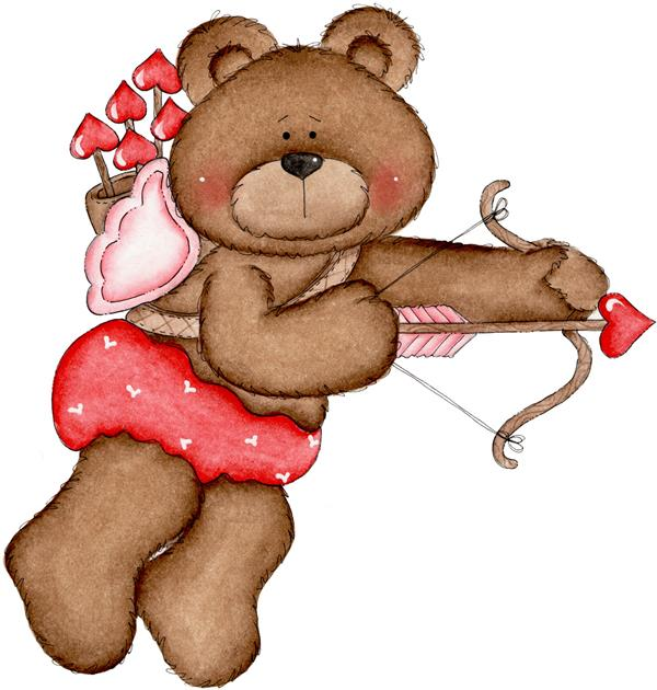 picture of a bear shooting a bow & arrow