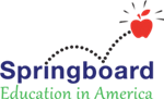 Springboard logo; Text: Education in America