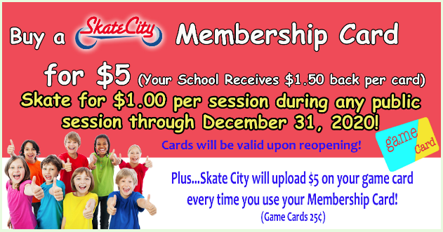 Skate City Membership Cards
