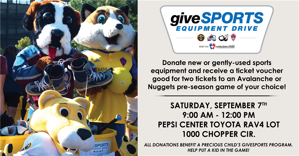 Come Donate Used Sports Equipment to  A Precious Child GiveSports Program
