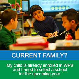 Current Family in Westminster Public Schools - Registration