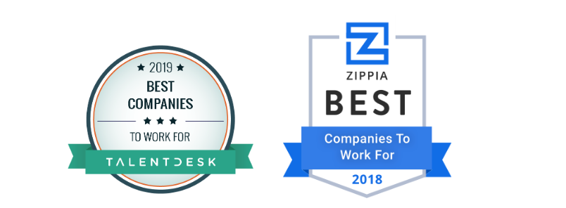 2019 Best companies to work for by Talent Desk