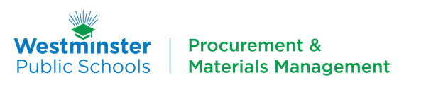 westminster public schools procurement and materials management logo