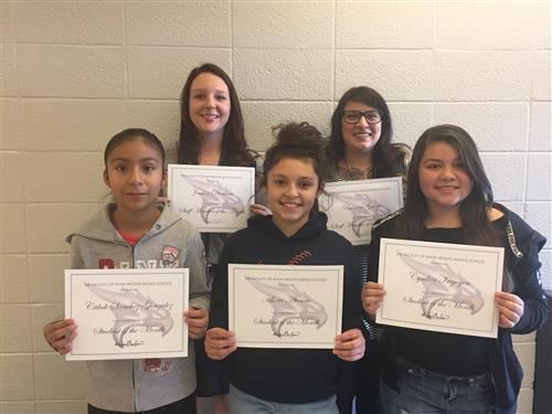 Students and Staff Members of the Month for October