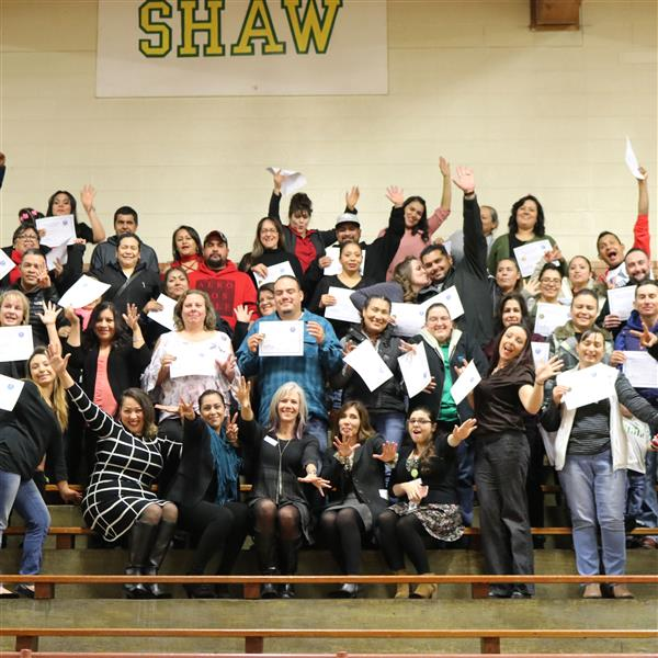 pass group of parents at shaw heights middle school