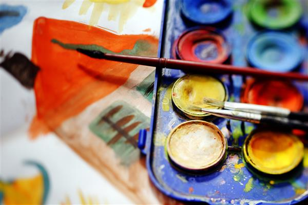 picture of paintbrushes and paints