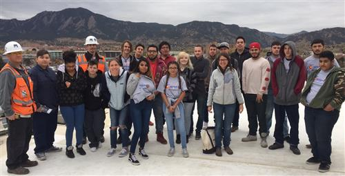 students took a field trip to swinerton construction site
