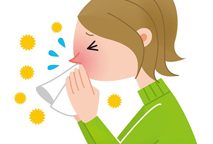 clipart of girl blowing her nose