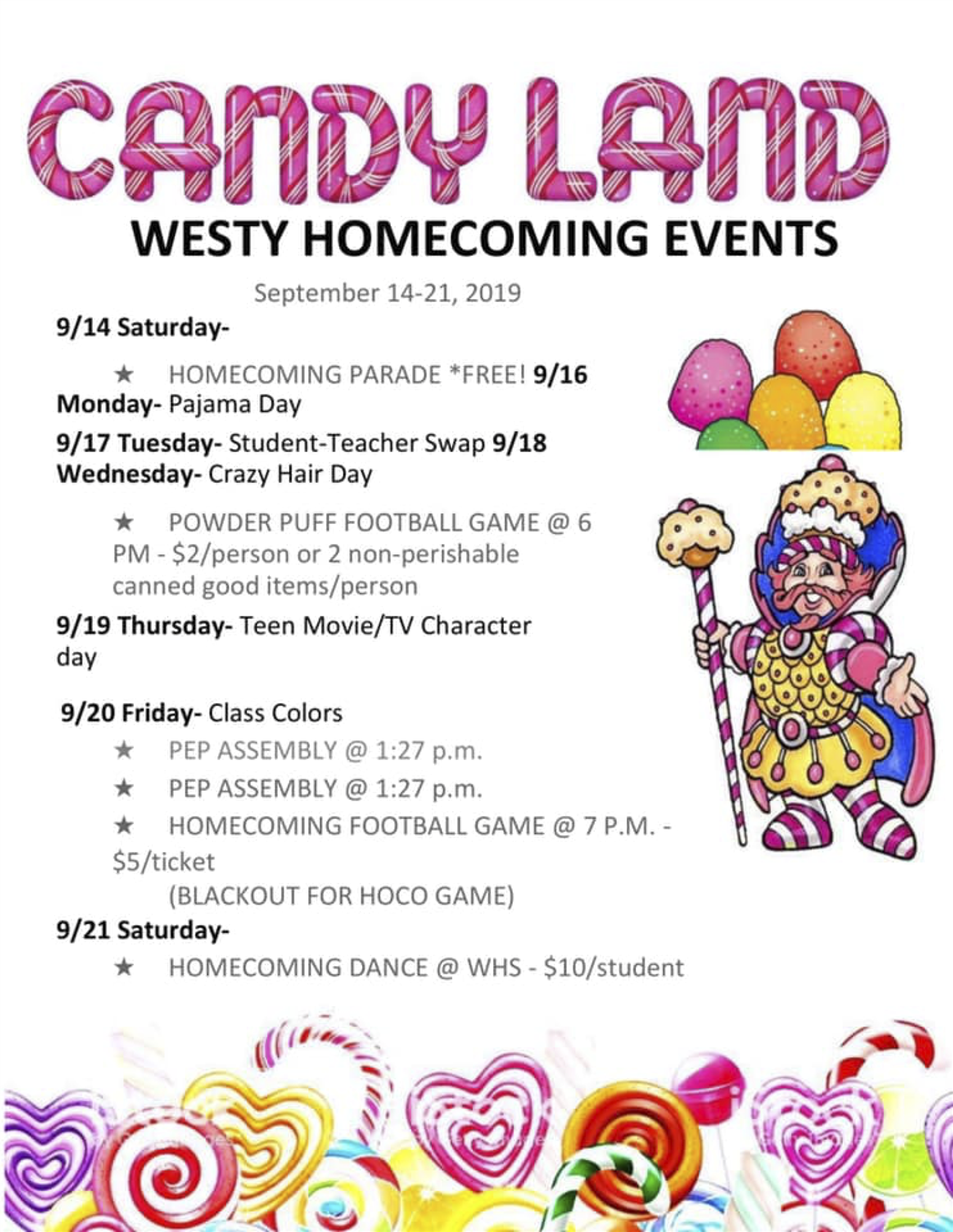 Westy Homecoming Event Flyer