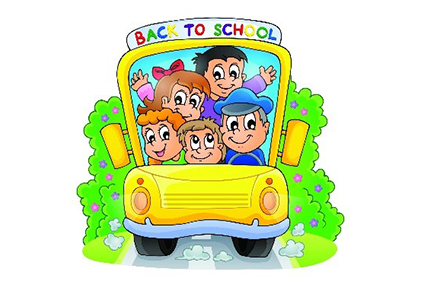 yellow school bus filled with boys and girls