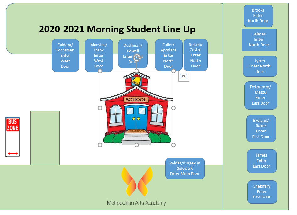 Student Morning Line Up