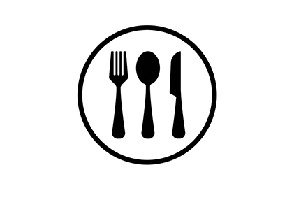 fork, spoon, knife on a plate