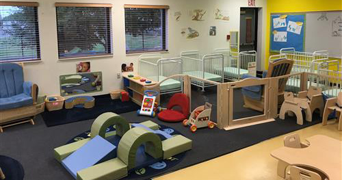 picture of the infant room at the early learning center