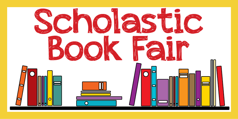 image of some books and the text: scholastic book fair