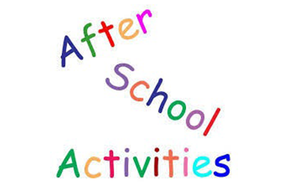 Colorful letters saying after school activities