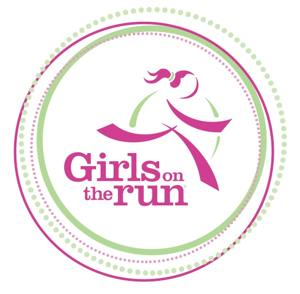 Image of a girl in pink running, with the words girls on the run