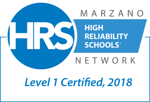 HRS Marzano High Reliability Schools Network Level 1 Certified, 2018