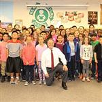 Congressman Perlmutter visits students at Mesa Elementary.